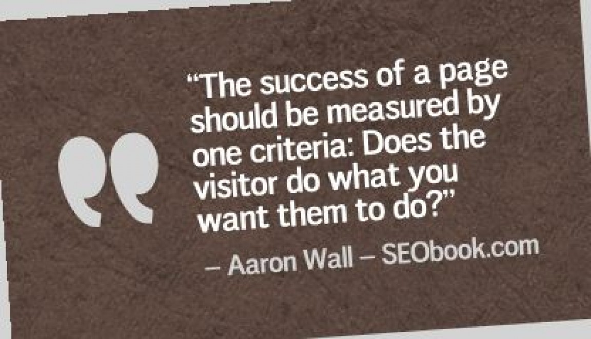 Great SEO Quote from Aaron Wall