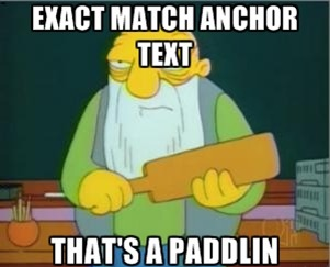 Exact Match Anchor Text Meme
