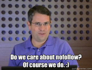 No follow Matt Cutts